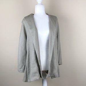 EILEEN FISHER | Textured Linen Open Blazer Jacket